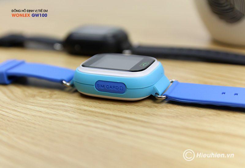 đồng hồ định vị trẻ em wonlex gw100 gps/lbs - khe sim