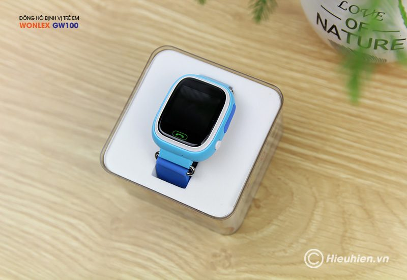 đồng hồ định vị trẻ em wonlex gw100 gps/lbs - mặt trên
