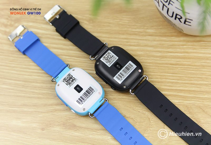 đồng hồ định vị trẻ em wonlex gw100 gps/lbs - mặt sau