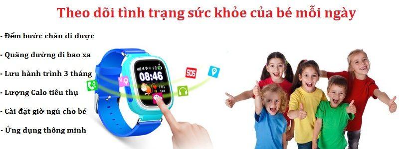 đồng hồ định vị trẻ em wonlex gw100 gps/lbs - tiện ích