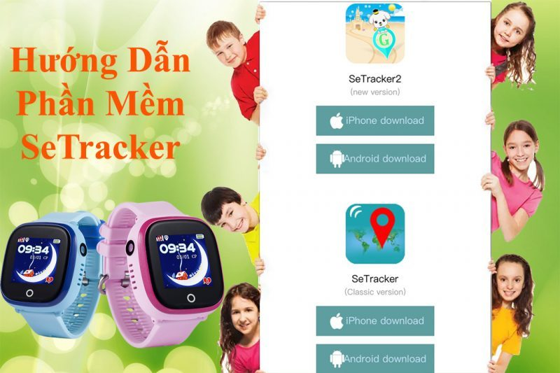 đồng hồ định vị trẻ em wonlex gw100 gps/lbs - setracker2