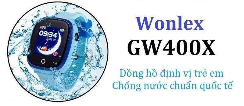 Đồng hồ định vị trẻ em Wonlex GW400X có Camera, chống nước IP67 - hình 02