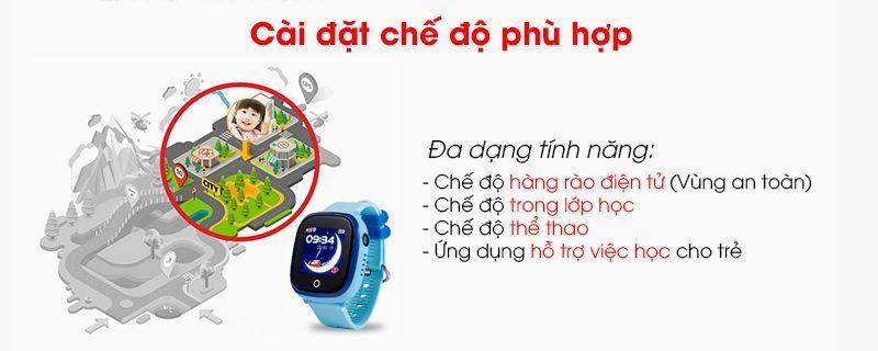 Đồng hồ định vị trẻ em Wonlex GW400X có Camera, chống nước IP67 - hình 03