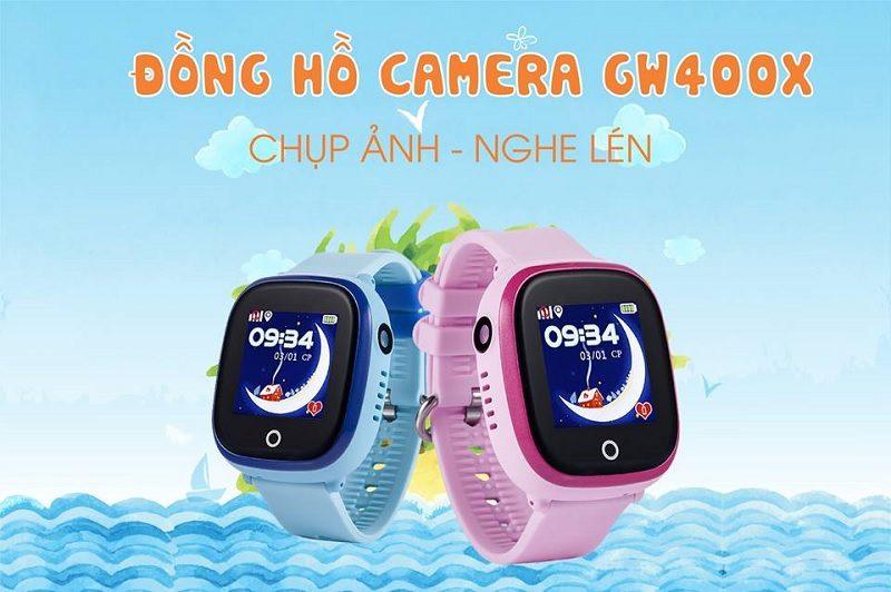 Đồng hồ định vị trẻ em Wonlex GW400X có Camera, chống nước IP67 - hình 0