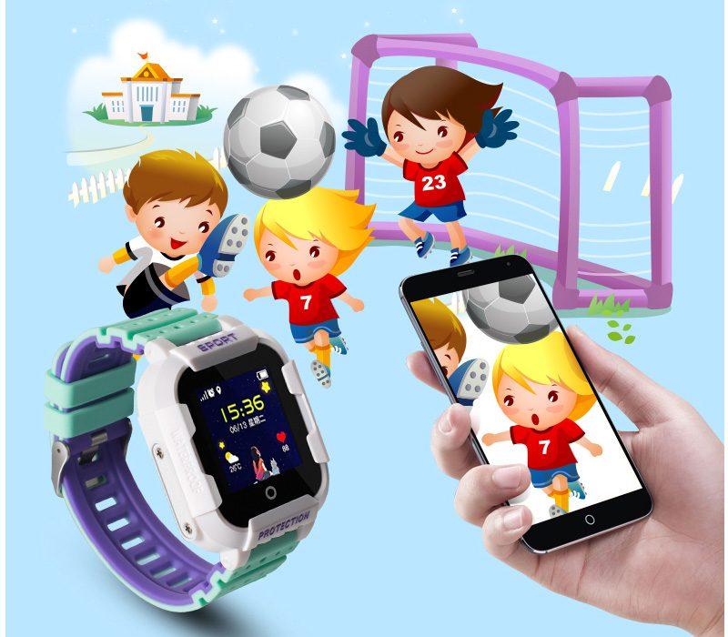 Đồng hồ định vị trẻ em Wonlex KT03 có Camera, chống nước IP67 - vùng an toàn