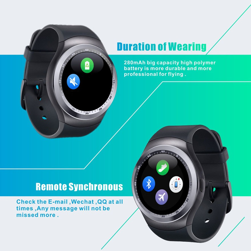dong ho thong minh y1 - smartwatch mat tron y1 gia re 12
