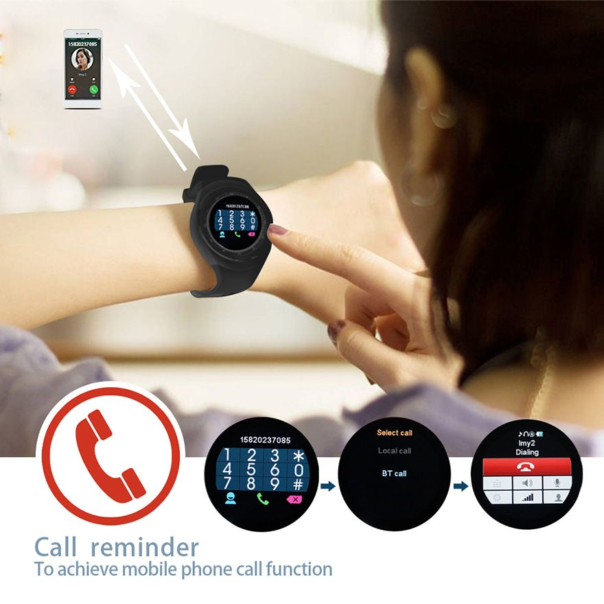 dong ho thong minh y1 - smartwatch mat tron y1 gia re 19