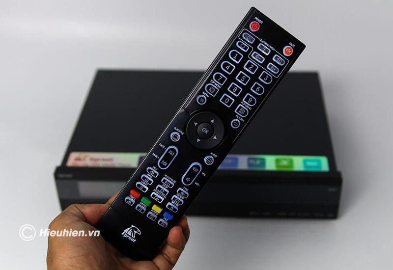 egreat a10 pro - đầu phát 4k media player, đầu karaoke android cao cấp - remote
