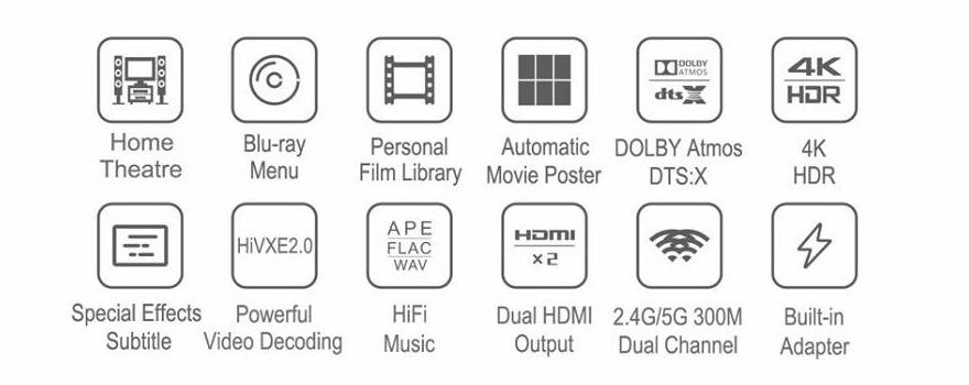 egreat a11 - đầu phát 4k media player, đầu karaoke android cao cấp - tính năng