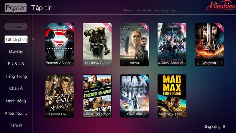 Egreat A5 Android TV Box kiêm đầu phát 4K HDR, đầu karaoke gia đình - Tặng chuột bay KM800 - kho phim hd
