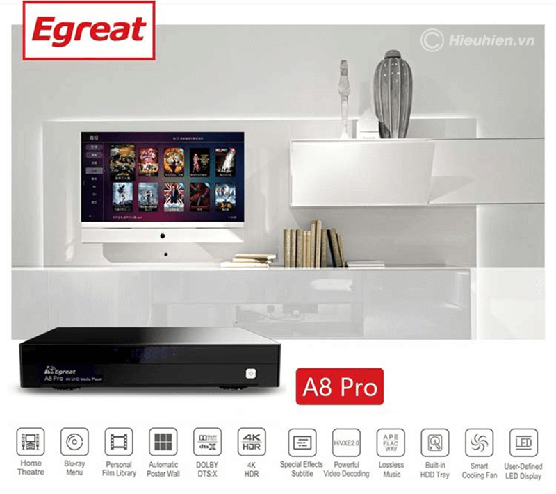 egreat a8 pro android tv box cao cấp