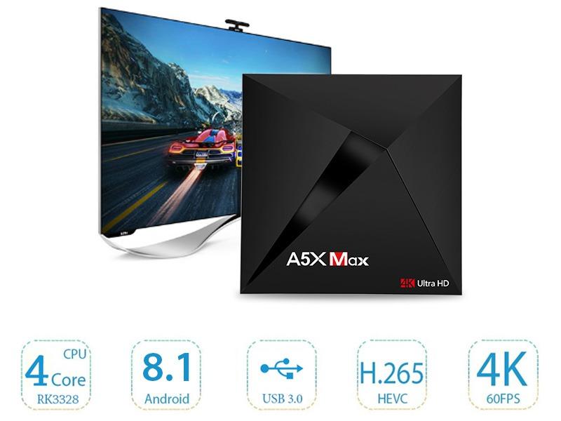 enybox a5x max 4gb/16gb android 8.1 tv box rockchip rk3328 chính hãng - android 8.1