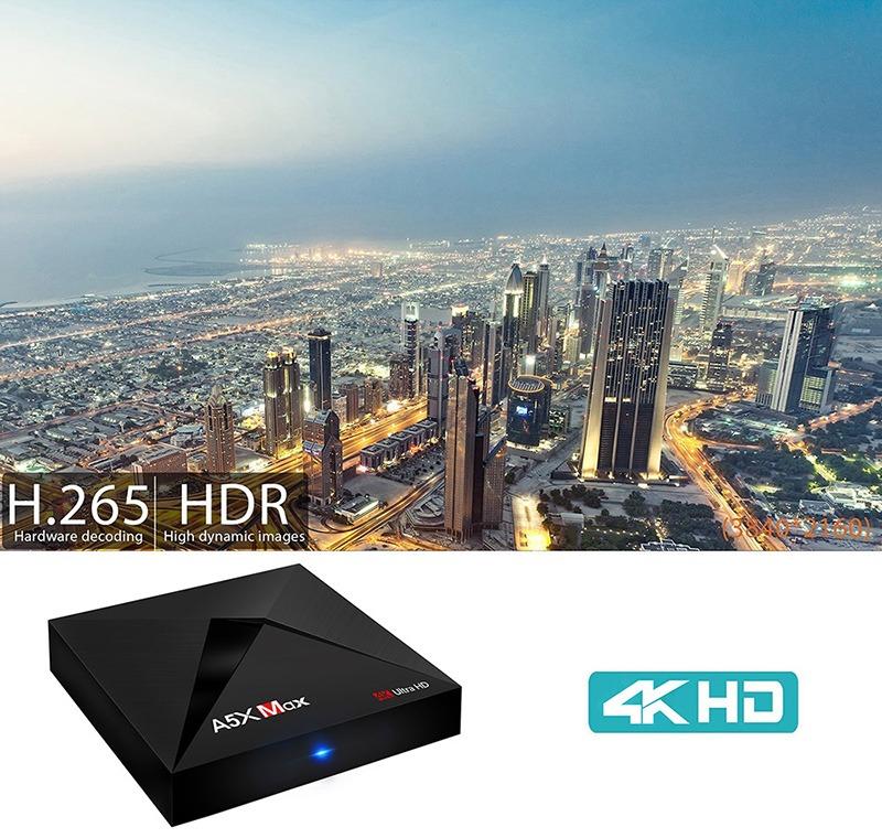 enybox a5x max 4gb/32gb android 8.1 tv box rockchip rk3328 chính hãng - hình ảnh 4k