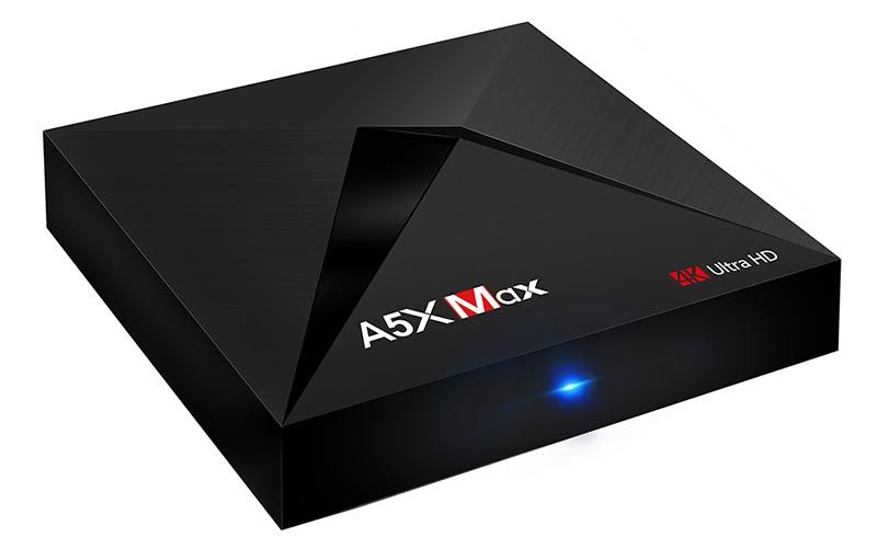 enybox a5x max 4gb/32gb android 8.1 tv box rockchip rk3328 chính hãng - đèn led