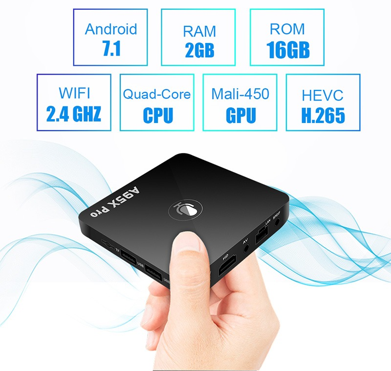 danh gia enybox a95x pro android tv box voi voice remote control