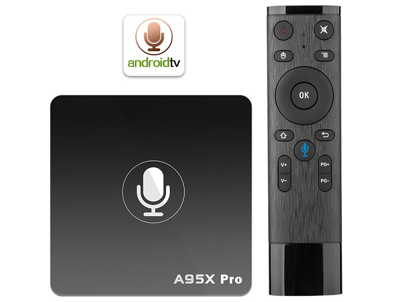 danh gia enybox a95x pro android 7.1 tv box voi voice remote control