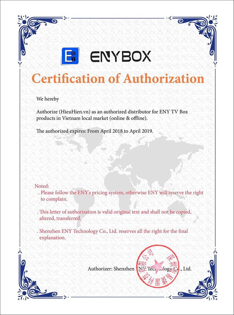 enybox giấy chứng nhận hieuhien.vn - nhà phân phối các sản phẩm android tv box chính hãng enybox