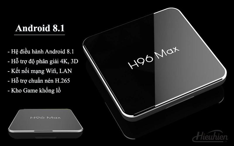 enybox h96 max x2 4gb/32gb android 8.1 tv box amlogic s905x2 chính hãng - android 8.1