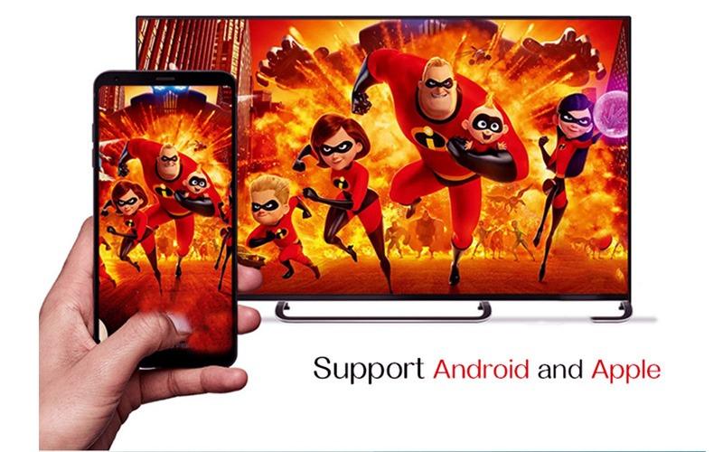 enybox h96 max x2 4gb/32gb android 8.1 tv box amlogic s905x2 chính hãng - chia sẻ màn hình