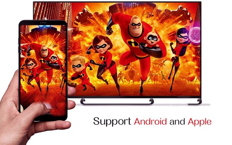 enybox h96 max x2 4gb/64gb android 8.1 tv box amlogic s905x2 - chia sẻ màn hình