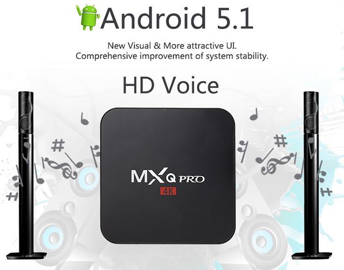 Enybox MXQ Pro 4k android tv box gia re, cau hinh manh: chay android 5.1