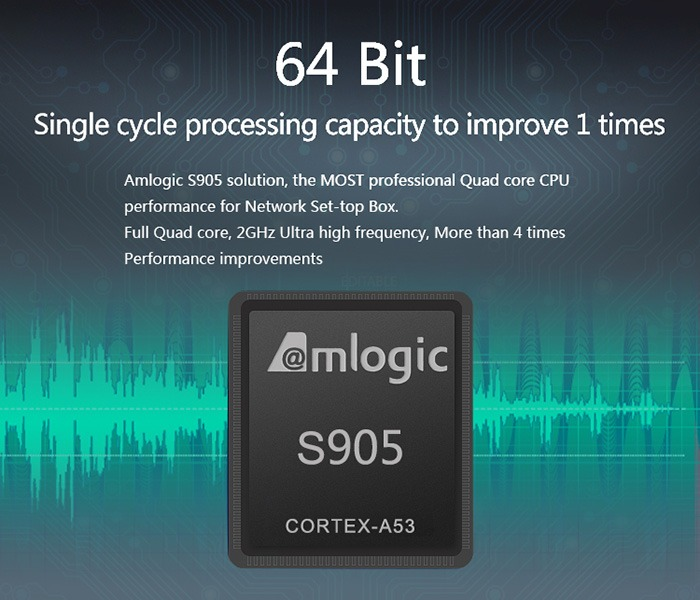 Enybox MXQ Pro 4k android tv box gia re, cau hinh manh: chip amlogic s905 64-bit