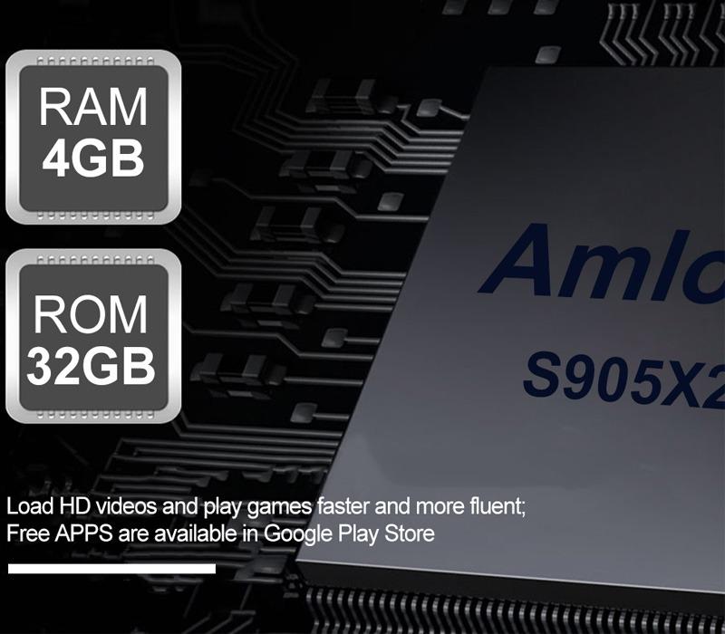 enybox t95q 4gb/32gb android 8.1 tv box amlogic s905x2 chính hãng - ram 4gb rom 32gb