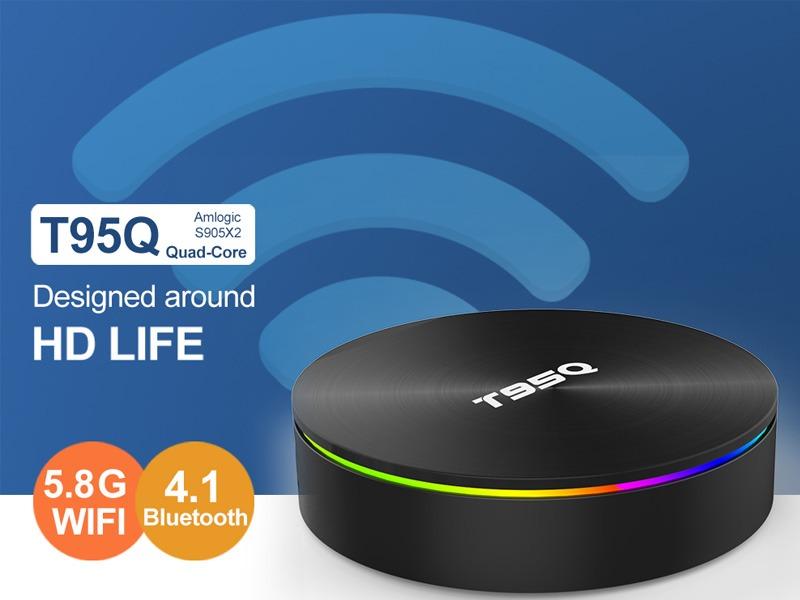 enybox t95q 4gb/32gb android 8.1 tv box amlogic s905x2 chính hãng - wifi 2 băng tầng