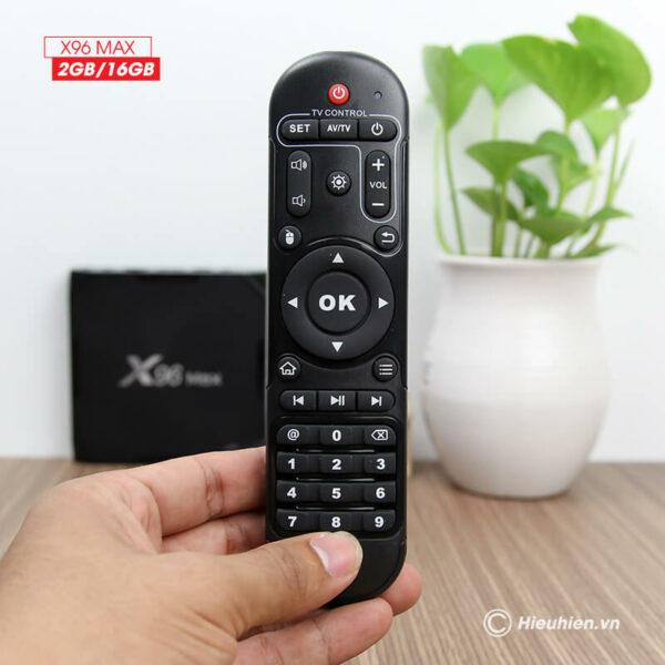 android tv box enybox x96 max 2gb/16gb android 8.1, chip amlogic s905x2 - hình 03