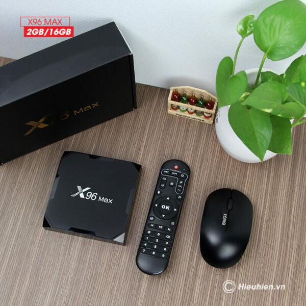 android tv box enybox x96 max 2gb/16gb android 8.1, chip amlogic s905x2 - hình 05