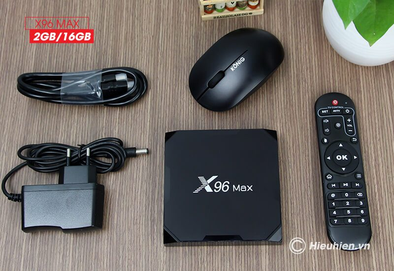 android tv box enybox x96 max 2gb/16gb android 8.1, chip amlogic s905x2 - hình 12