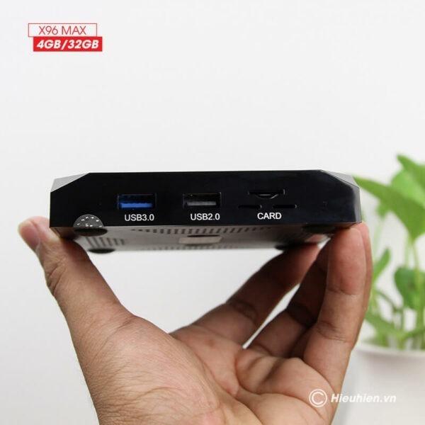 android tv box enybox x96 max 4gb/32gb android 8.1, chip amlogic s905x2 - hình 01