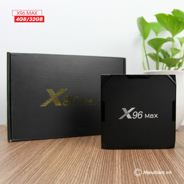 android tv box enybox x96 max 4gb/32gb android 8.1, chip amlogic s905x2 - hình 05