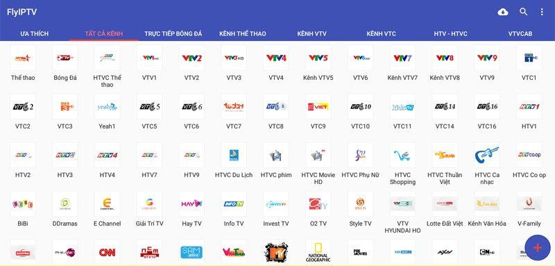 flyiptv ứng dụng xem phim truyền hình, trực tiếp bóng đá - tấc cả các kênh