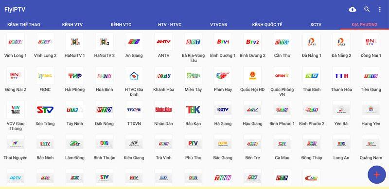 flyiptv ứng dụng xem phim truyền hình, trực tiếp bóng đá - kênh địa phương