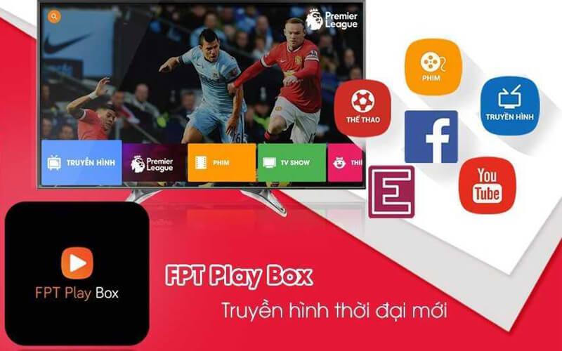 FPT Play Box + 2019 Voice Remote - Điều khiển tìm kiếm bằng giọng nói - xem bóng đá