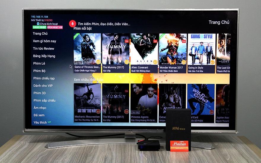 danh gia h96 max android tv box cau hinh cuc manh ram 4gb, rom 32gb, chip rk3399 16