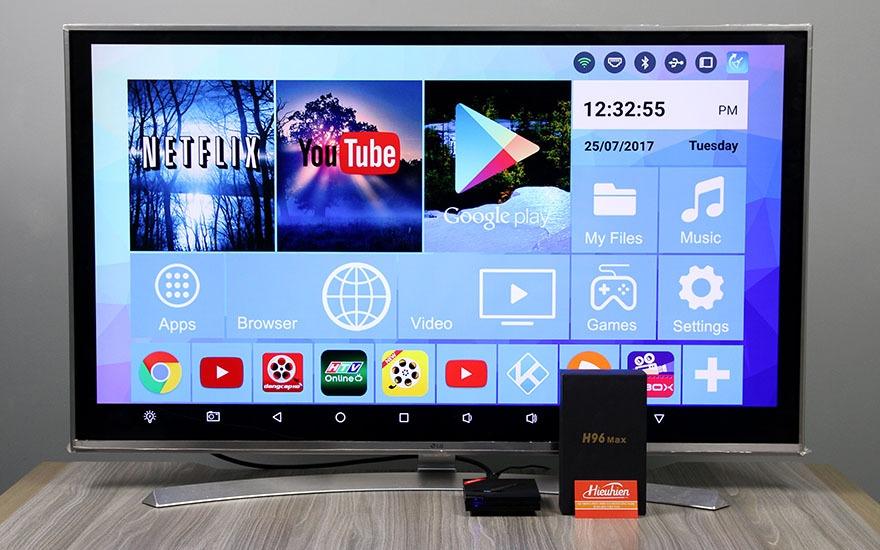 danh gia h96 max android tv box cau hinh cuc manh ram 4gb, rom 32gb, chip rk3399