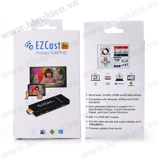 Ezcast Pro Miracast EZcast Dongle WiFi Display HDMI khong day chat luong cao Ezcast Pro 07
