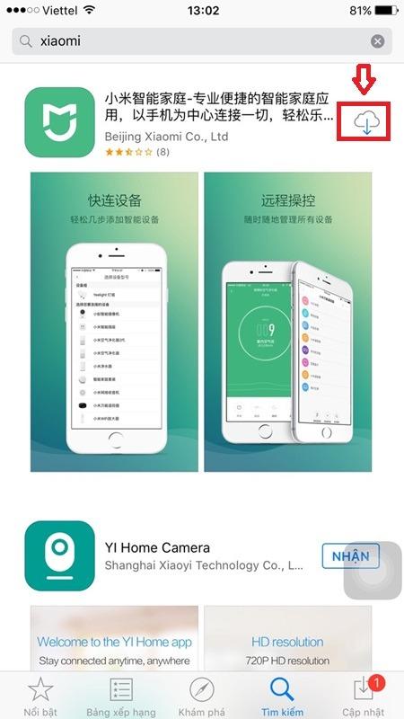 huong dan ket noi bo khuech dai song xiaomi mi tai ung dung tu app store