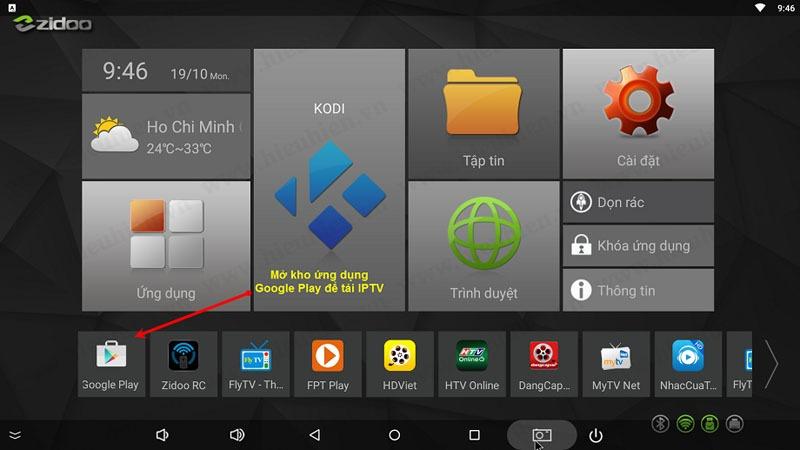 Mở kho ứng dụng Google Play