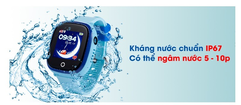 Đồng hồ định vị trẻ em Wonlex GW400X chống nước theo chuẩn quốc tế
