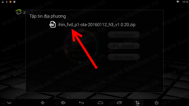 chon file firmware da tai ve