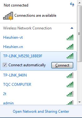 huong dan cau hinh bo phat wifi di dong tp-link m5250 - ket noi wifi