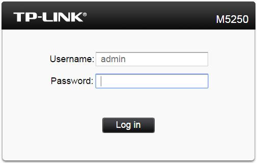 huong dan cau hinh bo phat wifi di dong tp-link m5250 - dang nhap admin