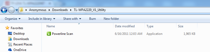 huong dan cau hinh tp-link tl-wpa2220kit: giai nen tap tin tl-wpa2220kit_v1_utility.zip ta duoc file powerline scan.exe