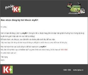 cach dang ky tai khoan myk+ de xem truyen hinh k+ tren android va ios: bam duong link xac nhan trong email
