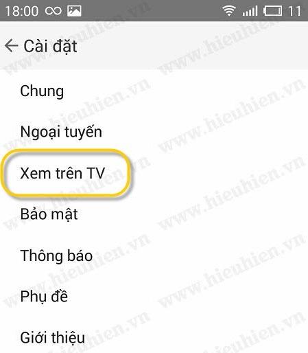 chon xem tren tv