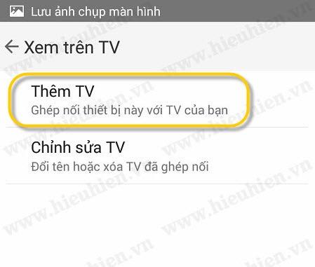 chon them tv