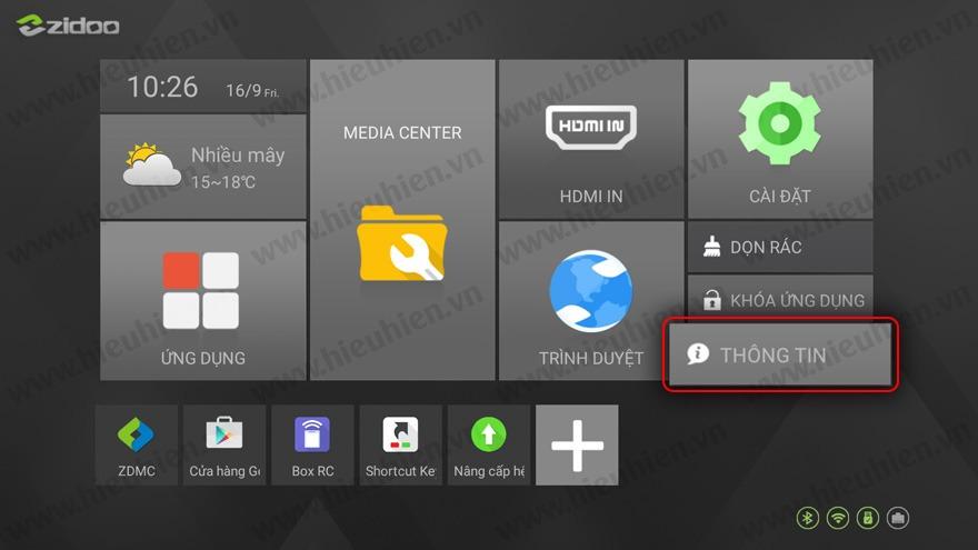 huong dan nang cap firmware moi cho android tv box zidoo x9s